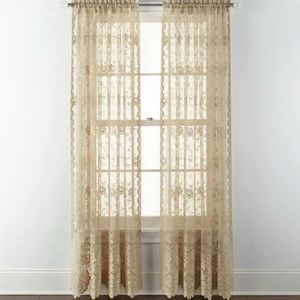 JCPenney Home Shari Lace Curtains Complete Set